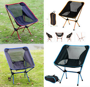 Outdoor Picnic Camping Chair Portable Lightweight Foldable Beach Fishing Seats