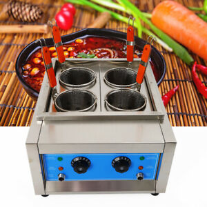 Electric Pasta Cooker Noodles Cooker Electric Pasta Cooking Machine 4 Holes 110V