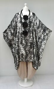 PLUS SIZE OVERSIZED BATWING LONG PONCHO*BLACKGREYWHITE*AKH GERMANY XXL-XXXL
