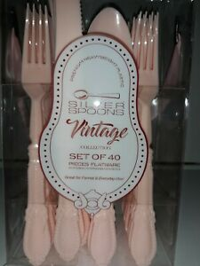 Pink Flatware  THE VINTAGE COLLECTION  Set of 40  BEAUTIFUL!!!!