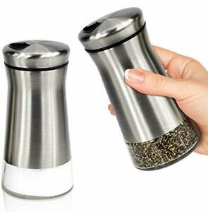 Elegant Salt and Pepper Shakers With Adjustable Pour Holes - Perfect Dispenser