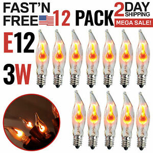 Flicker Flame Light Bulbs E12 Candelabra Base For Electric Window Candle Lamps