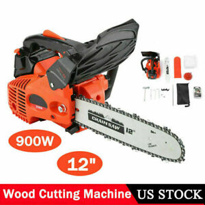 12quot; 25.4CC 900W Gas Chainsaw Wood Chain Saw Gasoline Cutting Trimming Machine $103.69