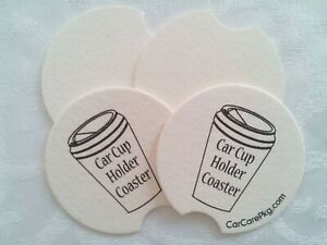 Car Cup Holder Coasters 6 pack Absorbent Paper Free Shipping
