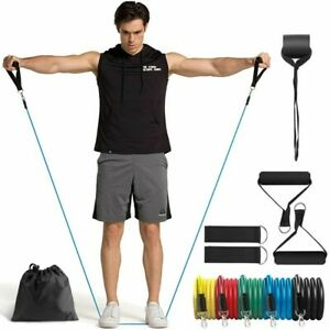 11pcs set Resistance Bands Yoga Pull Rope Elastic Bands Gym Expander Workout US