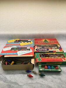 Vintage Lot Mixed Colored Christmas Holiday Light Bulbs In Boxes