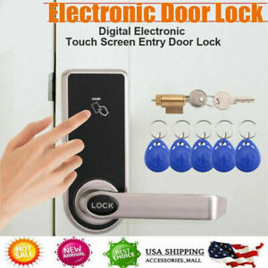 Electric Code Keyless Touch Keypad Security Entry Smart Door Lock 5 RFID Card US