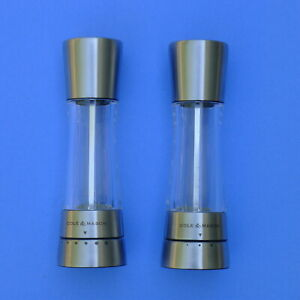 Cole & Mason Salt & Pepper Mill and Grinder Set, Stainless Steel