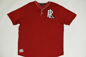 Polo Sport Ralph Lauren Vintage XL Short Sleeve Solid 24532 Red Polyester Casual $30.00