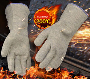 200 degrees Heat Resistant Work Glove Cooking BBQ Oven Hot Proof Safety Gloves