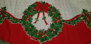 Round Vintage Antique Christmas Holiday Tablecloth Table Cloth $29.99