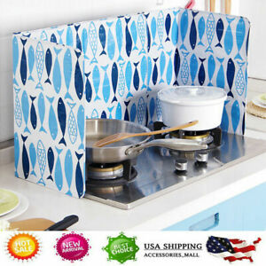 Folding Kitchen Cooking Oil Splash Screen Cover Anti Splatter Stove Shield Guard $14.56
