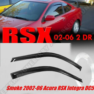 For 02 06 Acura RSX 2 Door Coupe DC5 Type S JDM Style Window Visors Rain Guards $27.39