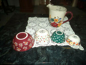 Pioneer Woman 5 Pc. Autum Harvest Measuring Cup and Bowls Set New