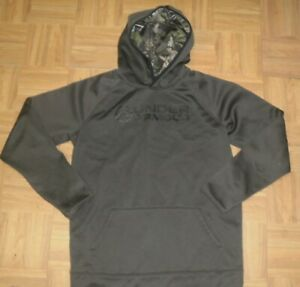 BOYS UNDER ARMOUR COLD GEAR YOUTH XL Brown Sweatshirt CAMO HOODIE $24.99
