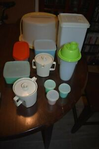 Vintage Tupperware Replacement items Complete Your Set Salad Bowl Shake Produce