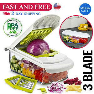 Vegetable Onion Chopper Potato Tomato Fruit Chopper Kitchen Cutter Veggie Dicer