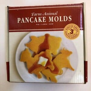 PANCAKE MOLDS Williams Sonoma Farm Animals 3 Molds NEW Cow Pig Lamb