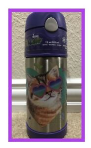 Thermos Funtainer Cat With Glasses 12oz