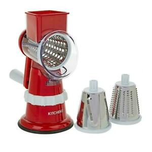 Kitchen HQ Speed Grater and Slicer with Suction Base II RED get it fast with us