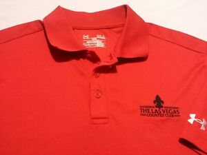 Under Armour Mens Large Tall LT Short Sleeve Solid Red Athletic Polo Golf Shirt $15.00