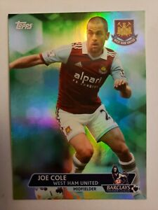 JOE COLE 2013 TOPPS BARCLAYS PREMIER LEAGUE ##x27;D 11 99 REFRACTOR