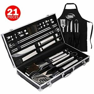 BBQ Grill Tools Set - 21 -Piece Stainless-Steel Utensils Tools Professional Gril