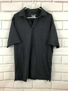 Under Armour Heatgear Loose Fit Polo Shirt Athletic Mens Large $14.00