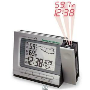 Projection Alarm Clock Weather Monitor Large LCD Screen Big Numbers AC/Battery