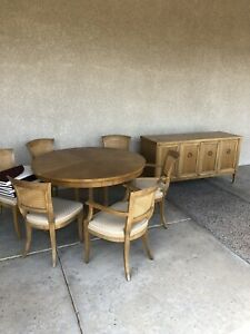 BAKER MILLING ROAD FURNITURE Table 6 Chairs and Buffet