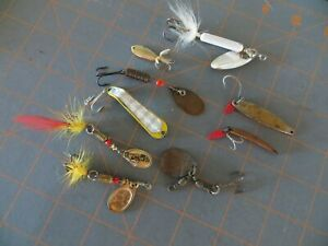 9 Vintage Spinners Various Brands 1 to 2 inch