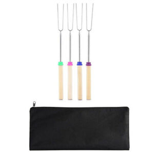 Roasting Sticks,Marshmallow Roasting Sticks 32 Inch Extendable Forks For B X4Z0