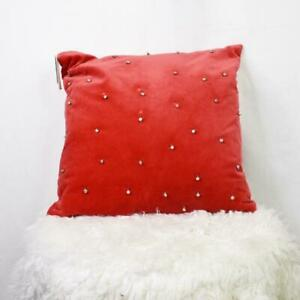 Nordstrom Rack Pillow Red Jingle Bells Christmas Holiday Home Decor NWT
