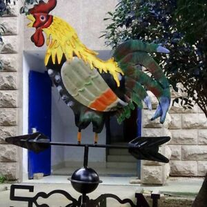Metal Weather Vane with Rooster Ornament Wind Vane Weather Vain for Roof W K1A7 $39.99