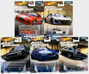 2020 Hot Wheels Fast & Furious Premium Full Force Set of 5 Cars, 1 64 GBW75 956H