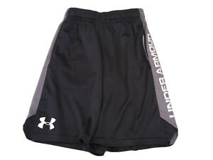Under Armour Shorts Youth Small Boys Black Grey Athletic With Pockets $15.99