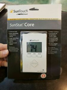 NEW SunTouch SunStat CORE Electric Floor Heating Thermostat  Manuel On/Off