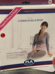 fla orthopedics WOMENS lumbar Sacral Support Back Brace 2xL Pink $20.00