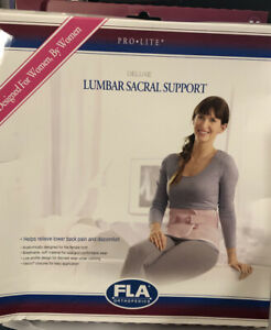 fla orthopedics WOMENS pink purple Lumbar Sacral Support Back Brace Medium $20.00