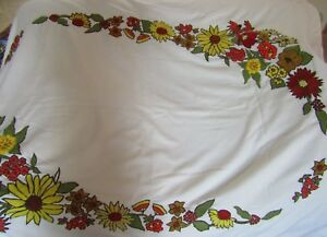 Vintage Embroidered Wool Blanket throw 53quot;x68quot;