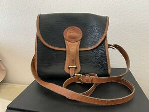 Vintage Dooney amp; Bourke Black Marble All Weather Pebble Leather Over Under bag $65.00