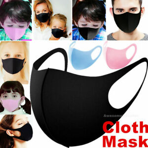 Men Women Kids Boys Girls Teen Child Unisex Face Mask Reusable Cover Cloth Masks