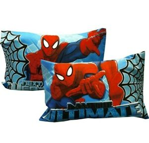 (2) Marvel Ultimate Spider-Man Single Standard Size Pillowcase 20