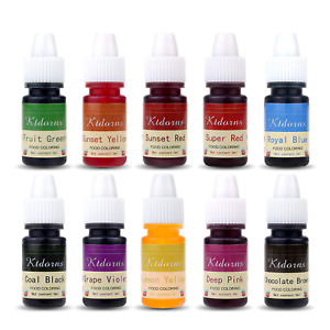Food Coloring - 10 Color cake food coloring liquid Variety Kit for Baking, Decor