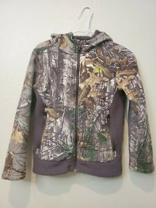 Under Armour Boys Camo Hunting Hoodie Size Youth Medium $28.80