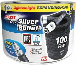 Silver Bullet Pocket Water Hose - Expandable upto 100Ft