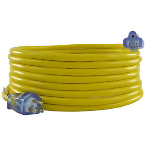 Conntek 12 3 Single Outlet Outdoor Extension Cords gt;25ft to 100ftlt; UL Listed