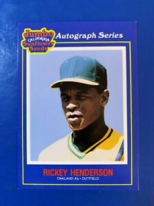 Rickey Henderson Oakland A's Jumbo Autographed series The Shortstop