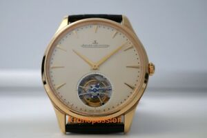 Jaeger-LeCoultre Master Ultra Thin Tourbillon 18K Rose Gold 40mm New !
