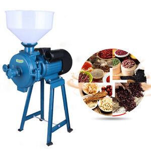 Electric 110V Mill Dry Grinder Flour Cereals Corn Grain Coffee Wheat Feed+Funnel